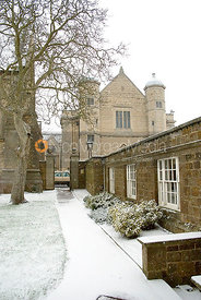 Uppingham School in the snow