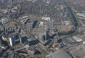 Manchester high level view of the Greengates area of Salford