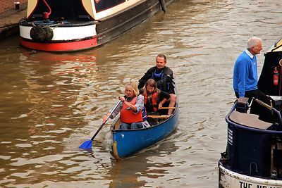 Family in Canoe at the Banbury Canal Day