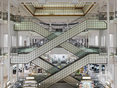 Retail architecture photographer - Le Bon Marche, Paris, France. Photo : Kristen Pelou