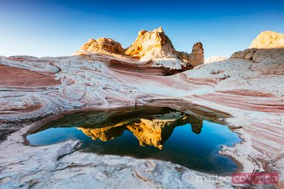 Vermillion cliffs at sunrise, Utah, USA