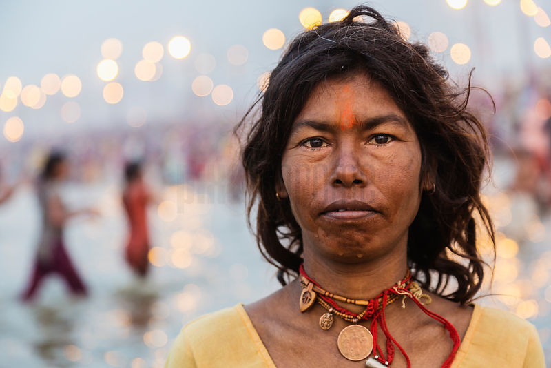 Portrait of a Woman at the Sangam