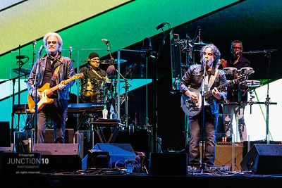 Hall and Oates in concert on the opening night of their Real Deal UK Tour at Resorts World Arena, Birmingham, United Kingdom ...