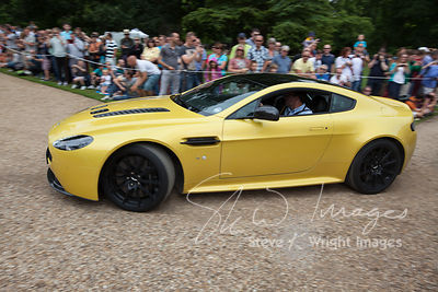 The latest Aston Martin V12 Vantage S arriving at the Wilton Classic and Supercar 2013 - Wilton House, Salisbury, Wiltshire, ...