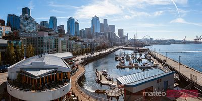 Waterfront and downtown district, Seattle, Etats-Unis