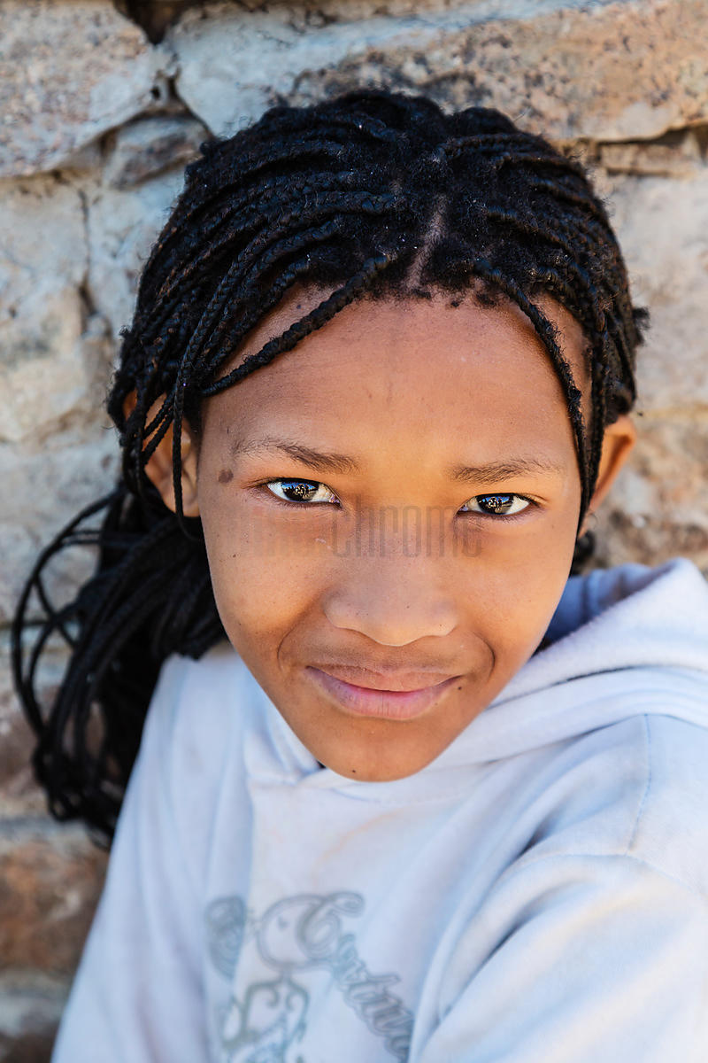 Portrait of a Young Nama Girl