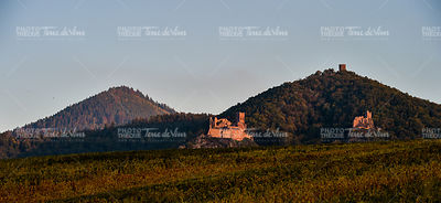Ribeauville, the castle Saint-Ulrich and Gilsberg, Alsace
