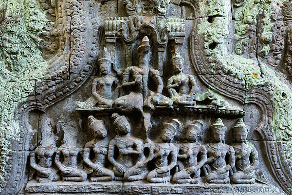 Hindu Stone Carvings on Temple Walls