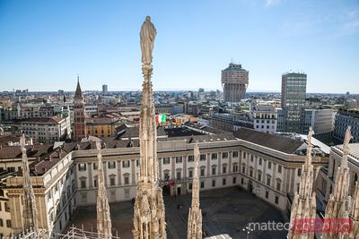 City of Milan from the top of the Duomo, Italy