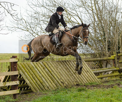 Max Chenery jumping a fence at Peake's Covert