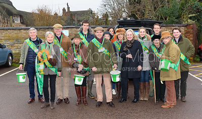 The For Rutland In Rutland collection team At the meet. The Cottesmore Hunt Boxing Day Meet in Oakham 26/12