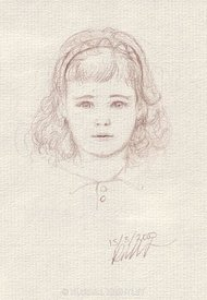 Little Girl pencil drawing from life
