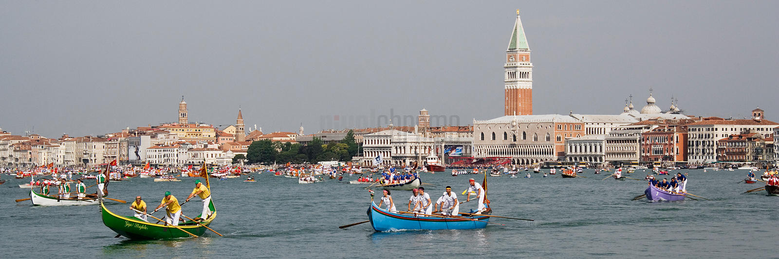 The Vogalonga (Boat Race) between the Maritime Regions of Italy Venice Italy