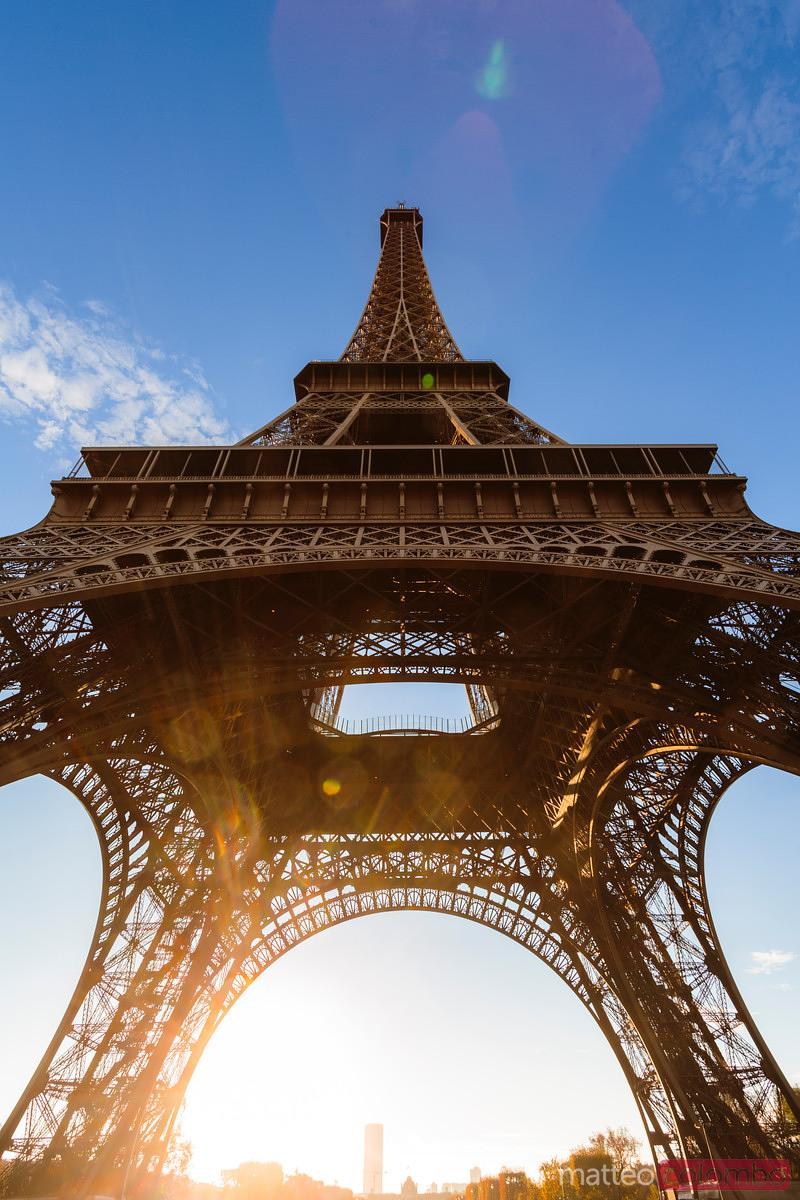 Matteo Colombo Travel Photography | Low angle view of Eiffel