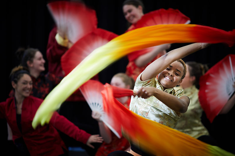 Salford University students doing a BA in Dance will take part in this weekends Chinese new year celebrations..pictured Aline...