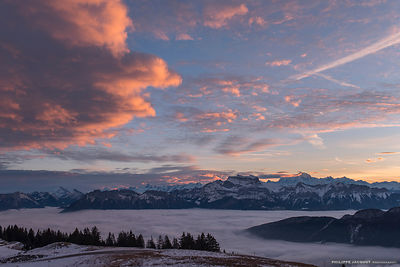 Pinky cloud - Annecy Semnoz