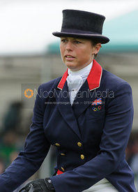 Jeanette Brakewell and LETS DANCE - dressage phase,  Land Rover Burghley Horse Trials, 6th September 2013.
