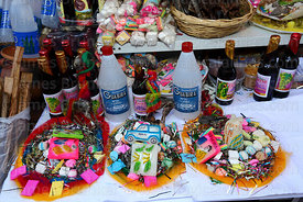 Mesas / offerings for Pachamama for sale on stall in Witches Market, La Paz, Bolivia