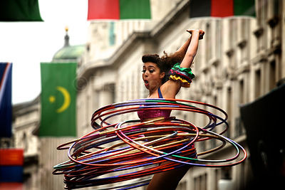 Marawa the Amazing Hula Hooping in Regent Street London