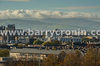 19th October, 2018.The Dublin skyline seen from the Dublin Institute of Technology, Grangegorman, Dublin Pictured is .Photo:B...