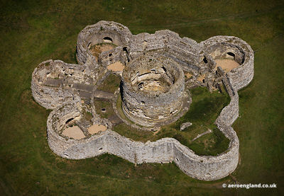 aerial photograph of Camber Castle East Sussex  England UK