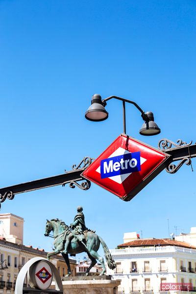 Puerta del Sol metro sign, Madrid, Spain