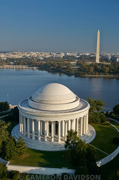 Aerial Photograph of the Jefferson Memorial in Washington DC