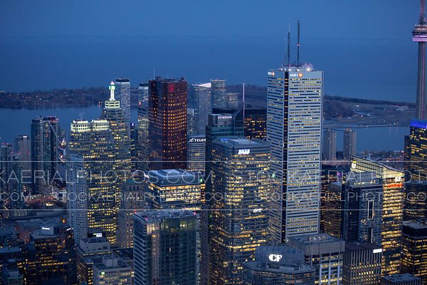 Toronto Financial District at Night