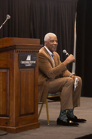 "The annual Boy Scouts breakfast featuring Julius ""Dr. J"" Erving as guest speaker."