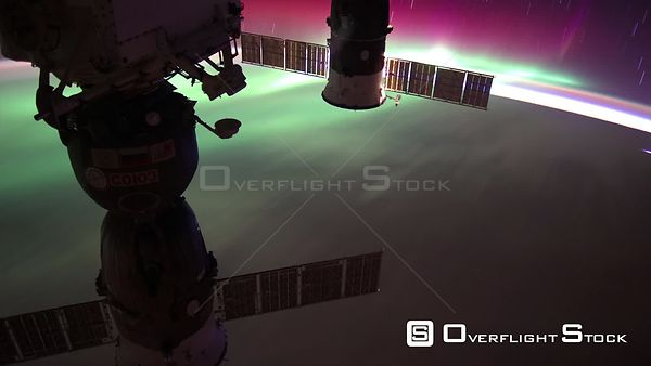 Timelapse from ISS over New Zealand USA Aurora Australis 29 Aug 2012 from Space