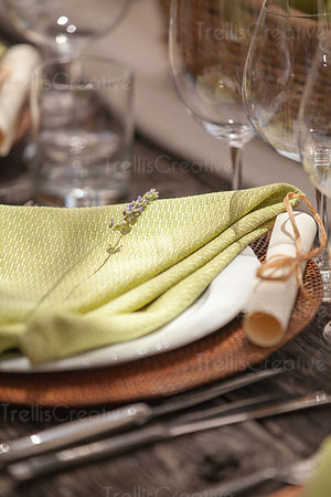 Table setting for an elegant meal
