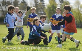 21st April, 2012. Castleknock GFC football nursery, Carpenterstown, Dublin. Pictured is some of the young members of the club...