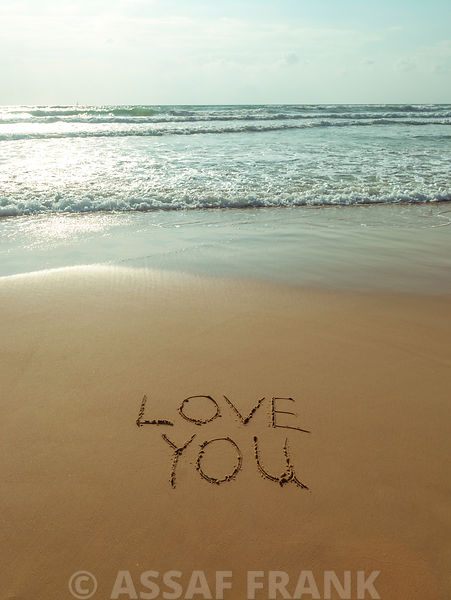 Love You - Beach writing