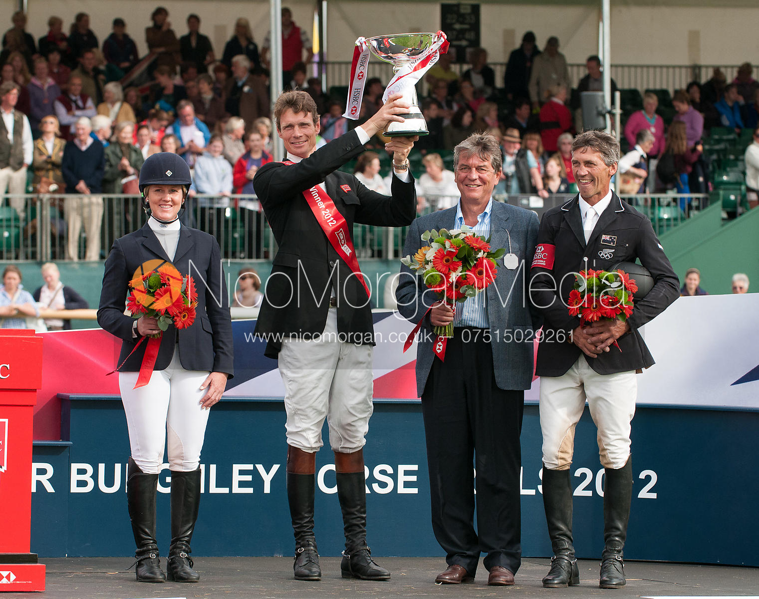 Allison Springer, William Fox-Pitt - prizegiving ceremony - Land Rover Burghley Horse Trials 2012.