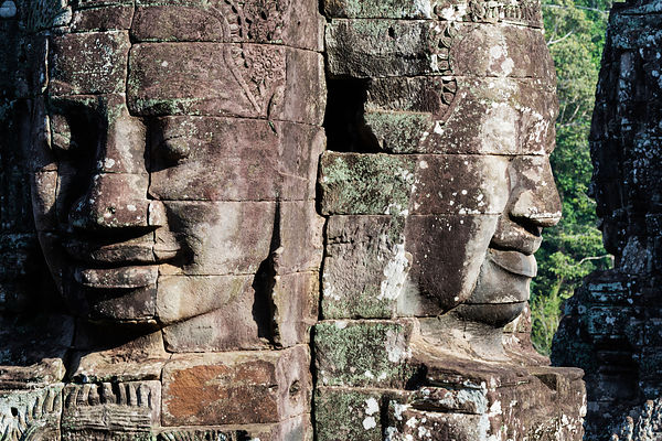 Stone Carved Heads