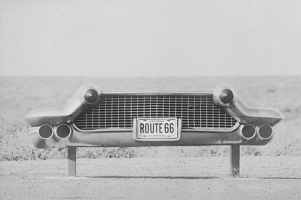 ARIZONA ROUTE 66 BLACK AND WHITE