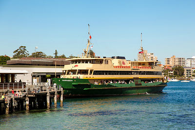 Ferry NARRABEEN arriving at the Manly Wharf Terminal from Sydney