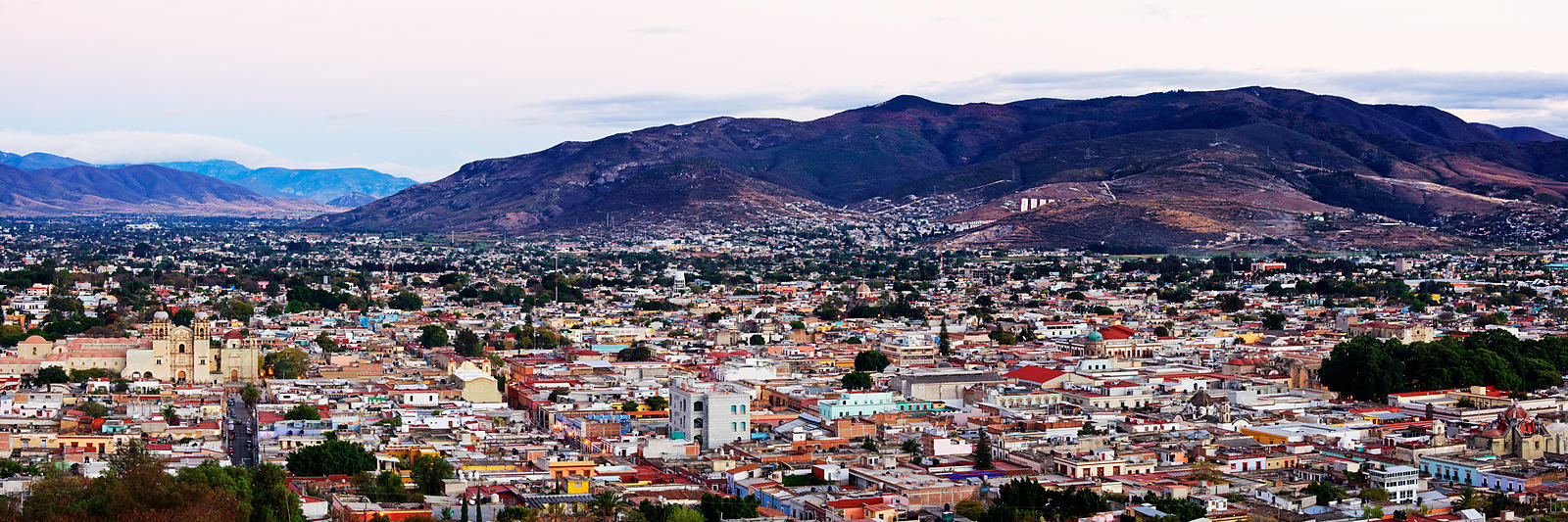 Panoramic Cityscape of Oaxaca