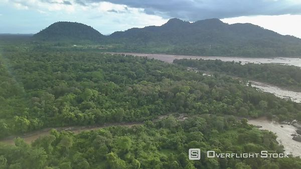 Flyover the largest falls in southeast Asia, the Li Phi falls (known as Khone Phapheng Falls) and the Mekong river, filmed by...