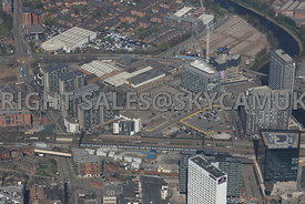 Greengate development area of Salford Central regeneration Manchester
