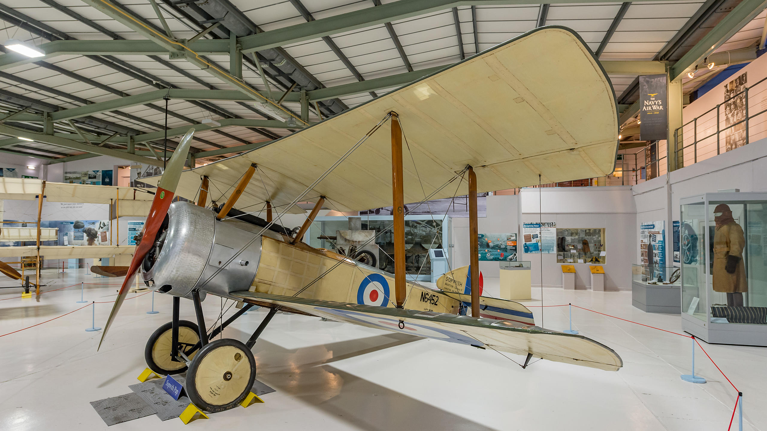 Sopwith Pup Aeroplane at the Fleet Air Arm Museum,