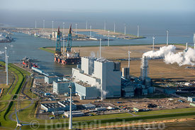 Eemshaven - Luchtfoto Centrale