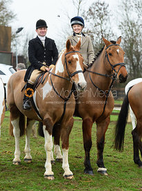 At the meet. The Cottesmore and The Pytchley at Downton House
