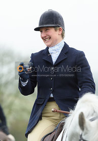 Holly Campbell At the meet. The Cottesmore and The Pytchley at Downton House