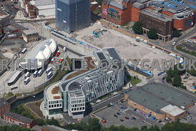 Rochdale aerial photograph of the new Library and Council offices part of the Number One Riverside development