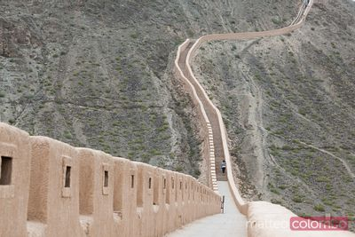 Overhanging Great Wall near Jiayuguan, Gansu, China