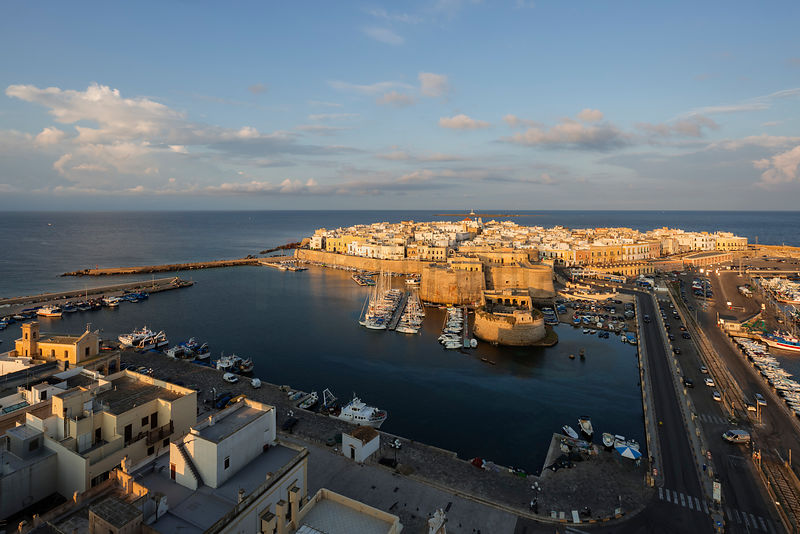 Elevated View of the Fishing Harbour and the Old City at Sunrise
