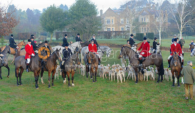 The Cottesmore Hunt 350th Anniversary meet at Burrough House 17-12
