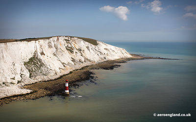 aerial photograph of Beachy Head  East Sussex England UK