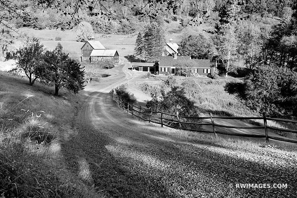 SLEEPY HOLLOW FARM VERMONT BLACK AND WHITE